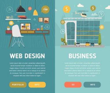 Web design workplace and business center