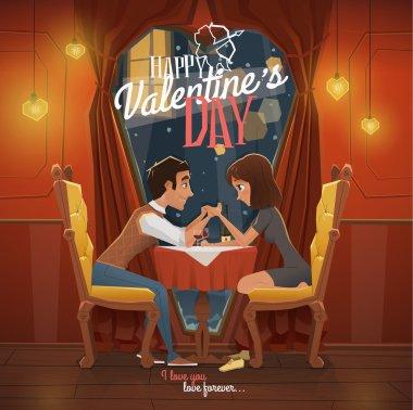 Happy Valentines day vector illustration clip art vector