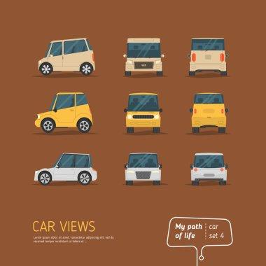 Cartoon views cars