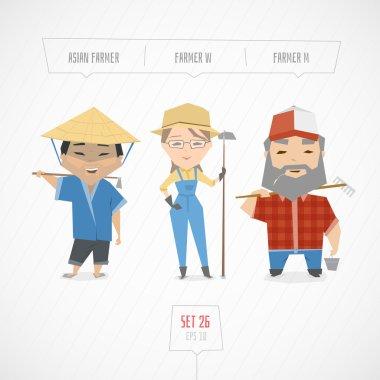 Cartoon characters farmers