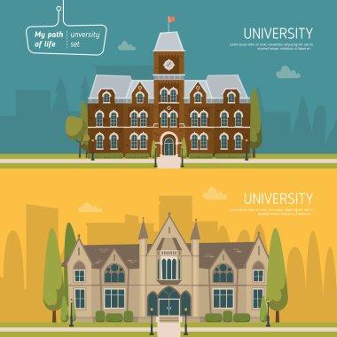 University buildings background