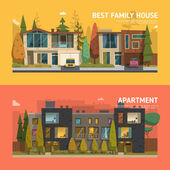 Rodinný dům a byt nápisy