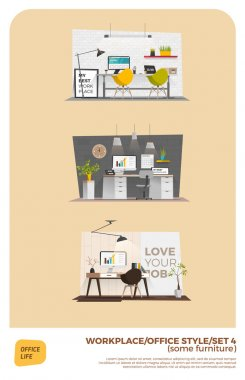 Infographic Interiors, office style