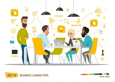 Business cartoon characters collection