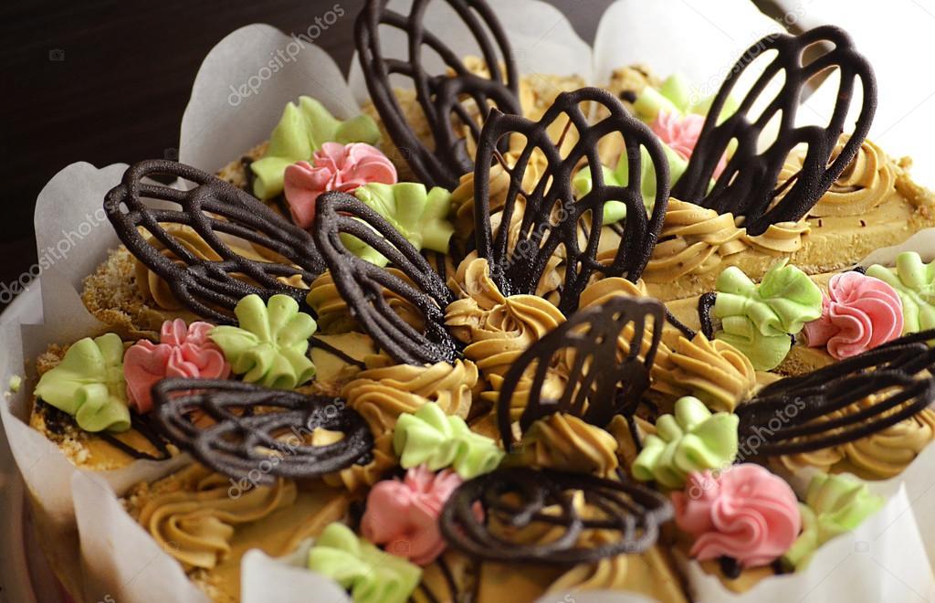 Schone Kuchen Mit Schokolade Stockfoto C Katerina3 94074896