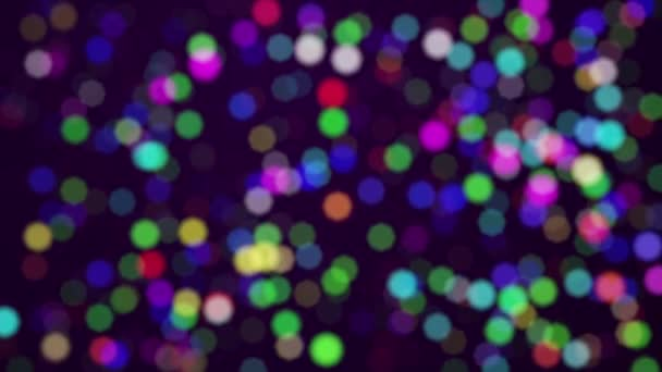farbige defokussierte Teilchen
