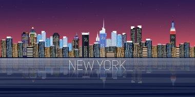 New York panorama city. Vector