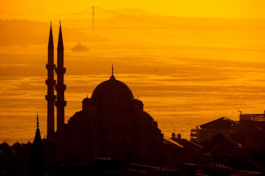 Mosque sihouette in Istanbul