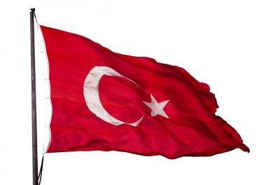 Wavy Turkish flag