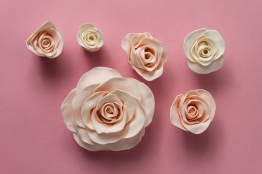 Beautiful fondant roses