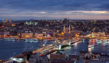 Evening Istanbul cityscape