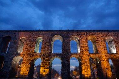 Historical aqueduct at Fatih