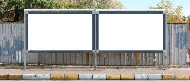 Blank outdoor billborads
