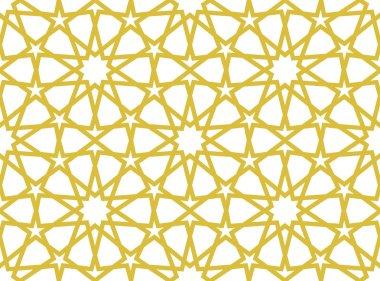 Islamic seamless golden pattern