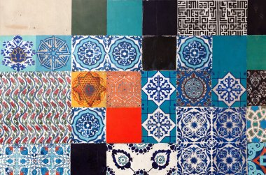 Oriental floral traditional tiles