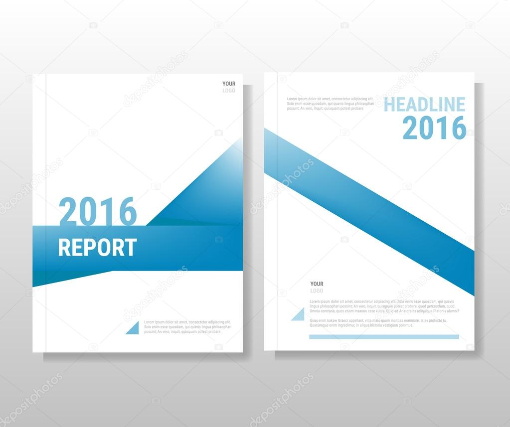 blue annual report leaflet brochure flyer template a4 size desig