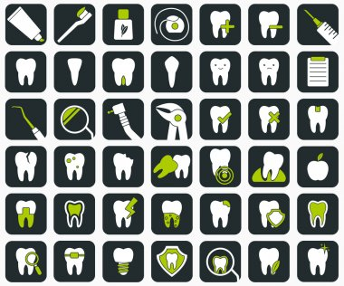 Set of dental icons.