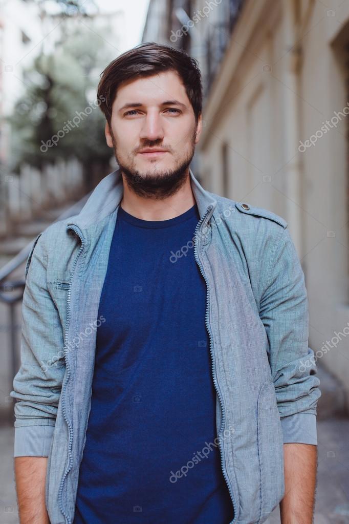 boy posing in the street