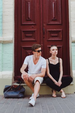 beautiful couple on the street