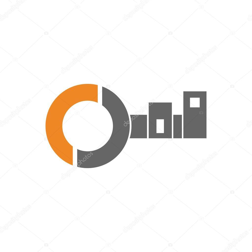 Logo llave Apartamento — Vector de stock © mizlatic #113088208