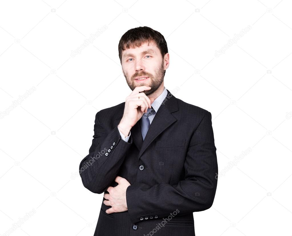 Körpersprache Mann Tasche Hände In Die Hüfte Stemmen