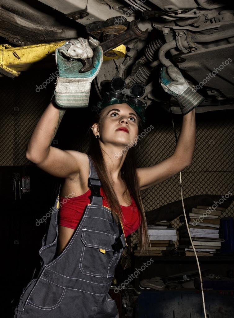 sexy female mechanics nude