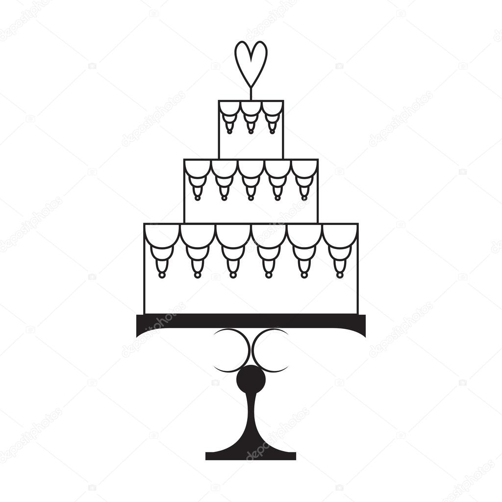 silhouette wedding cake stencil wedding cake silhouette stock vector 169 gobelena gmail 19824