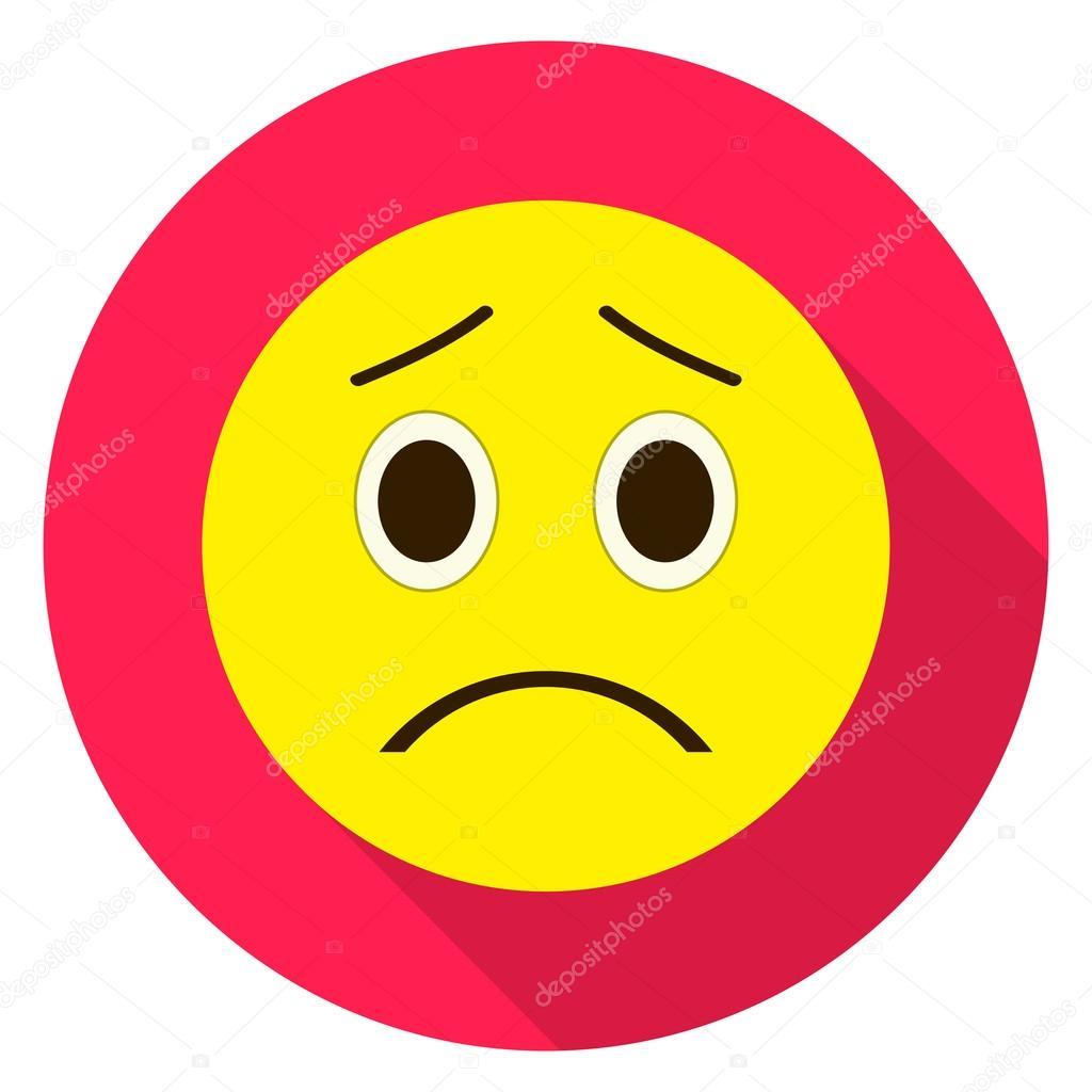 Trauriges Gesicht Emoticon Traurig Emoji Vektor Illustration Auf