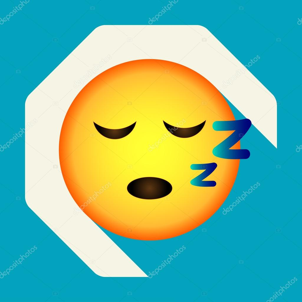 Emoticon sleep face  Sleepy emoji  Isolated vector illustration on