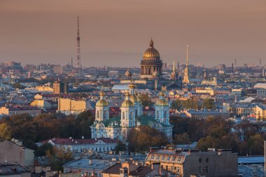 St Petersburg city panoramic view
