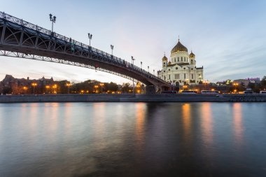 Moscow river and Christ Saviour cathedral