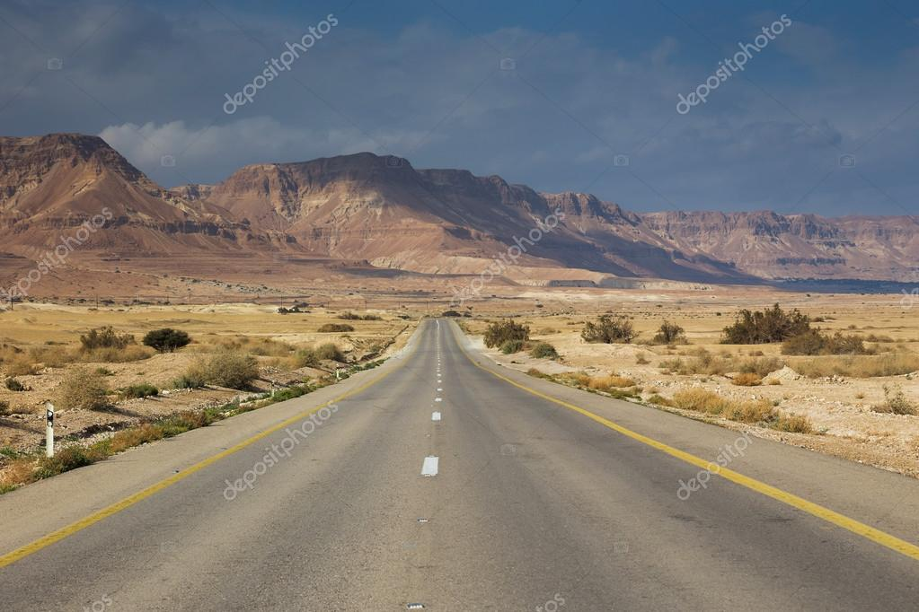 Picturesque landscape above road