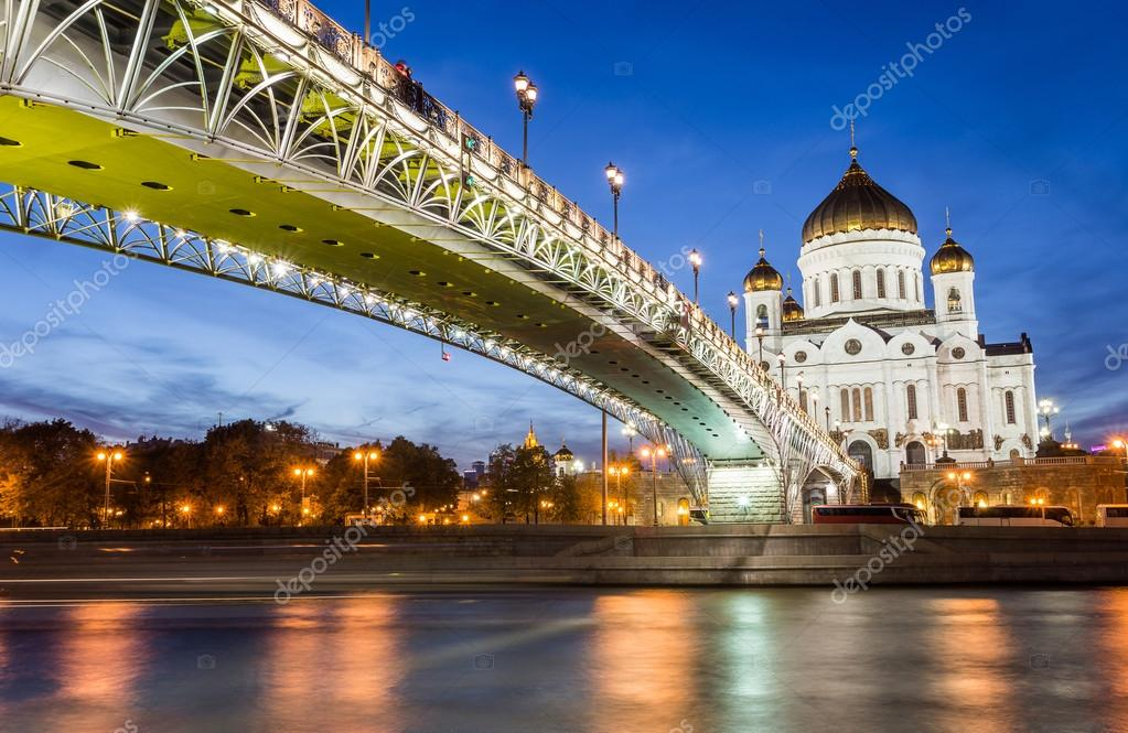 Moscow river and Saviour cathedral