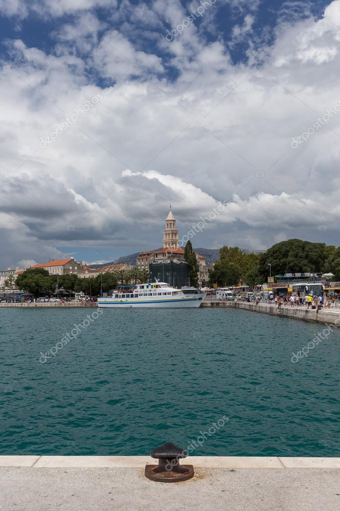 Picturesque view of quay in Split