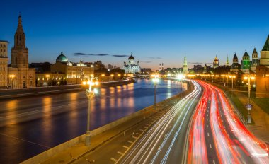 Evening traffic in Moscow