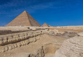 Fotografie Egypt. Cairo - Giza. General view of pyramids from the Giza Plat