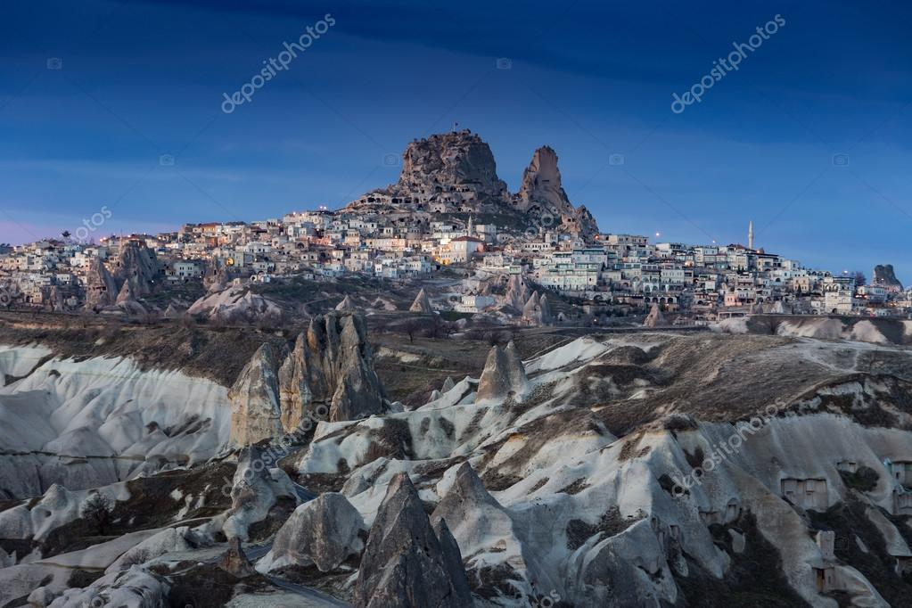 City between rocks in Cappadocia