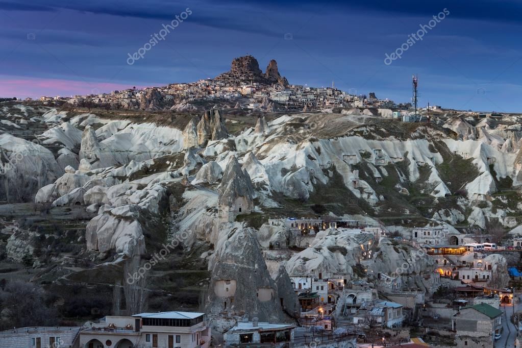 City between rocks in Cappadocia