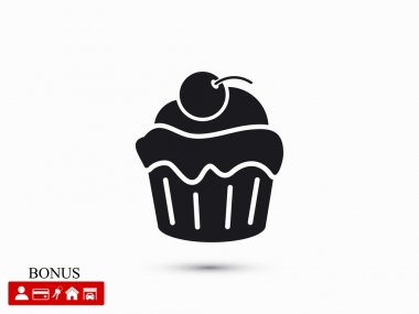 cherry cupcake  icon