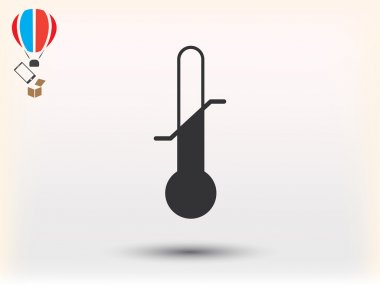 Thermometer icon vector illustration clip art vector