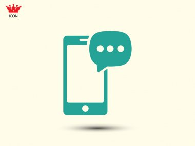 Phone Chat icon,vector illustration stock vector