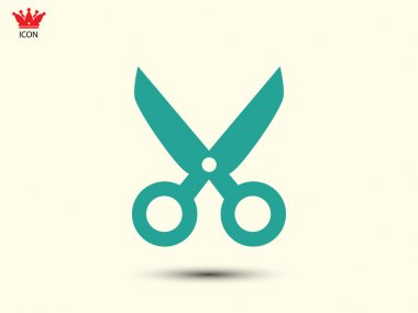 Scissors icon illustration
