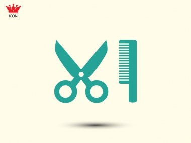 Comb hair with scissors