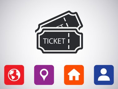 train tickets , icon.