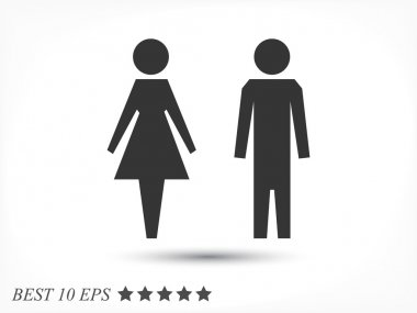 female and male icons
