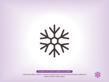 Snowflake silhouette icon