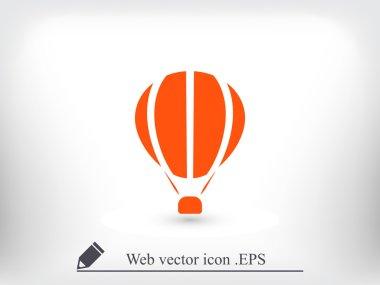 Hot air balloon icon clip art vector