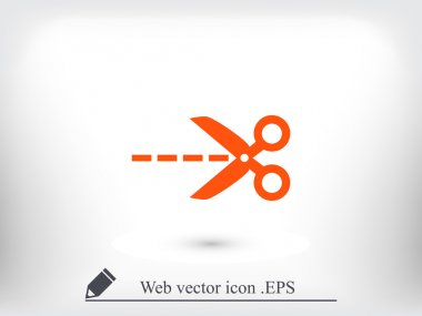 Scissors silhouette icon