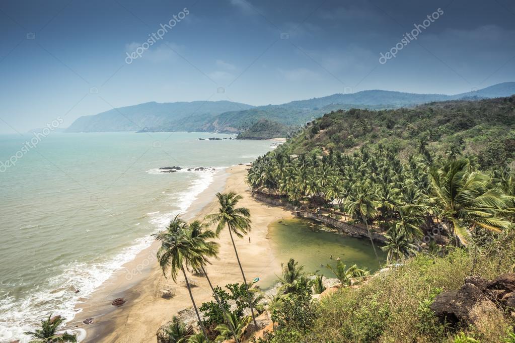 Goa beach. Cola beach, Goa, India.