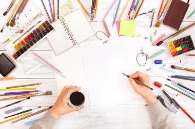 Desktop workplace for designer